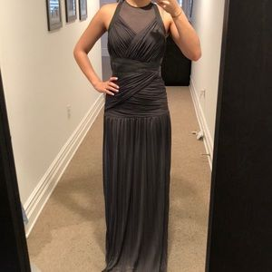 BRAND NEW Halston Heritage Grey Evening Gown